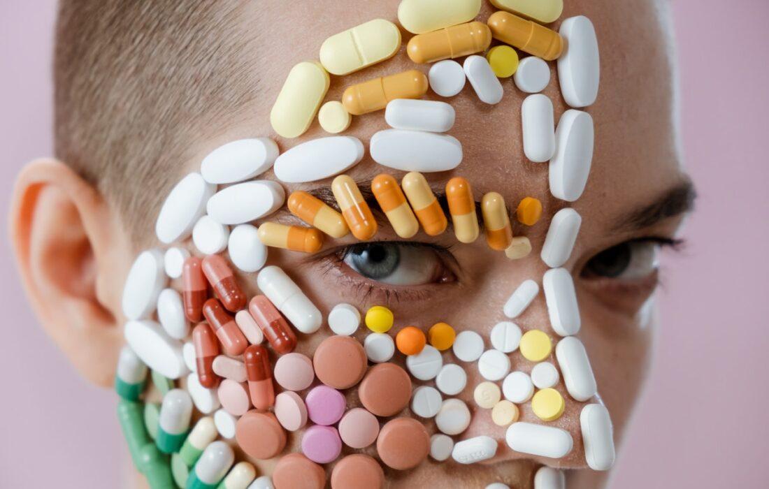 витамины на лице
