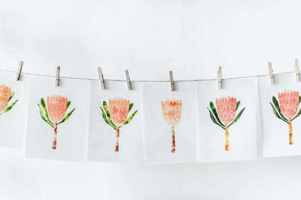 нарисованные цветочки