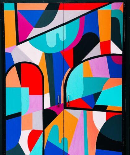 красочная абстракция