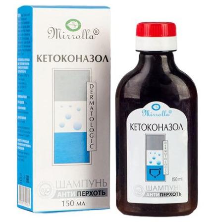 Шампунь с кетоконазолом 2% Mirrolla