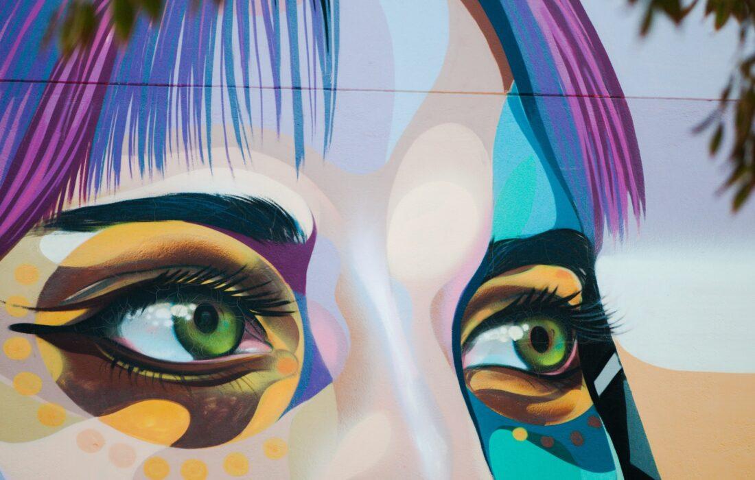 арт глаз девушки