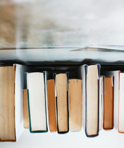 книги на полочке