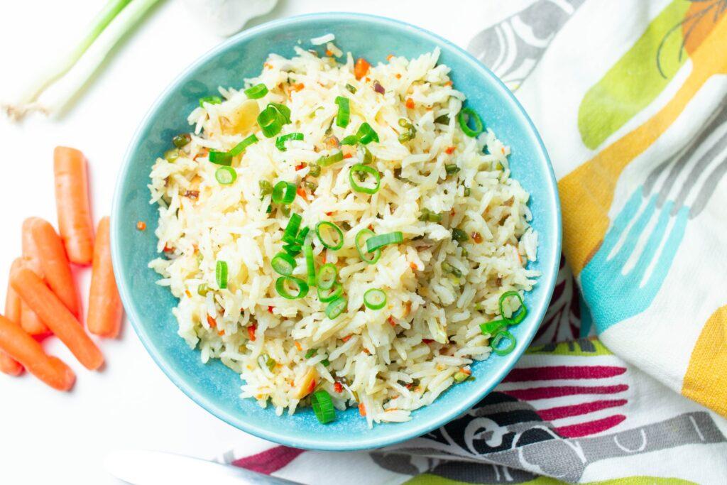 рис в тарелочке