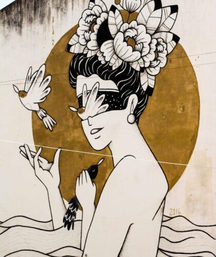 арт японской девушки