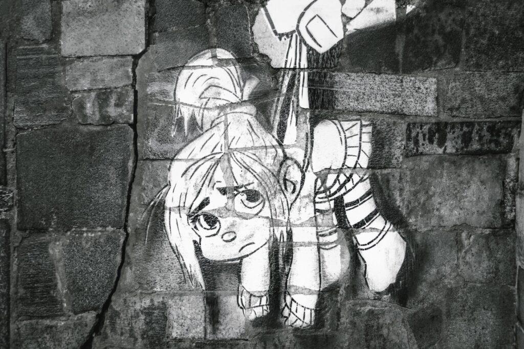 нарисованная девушка арт