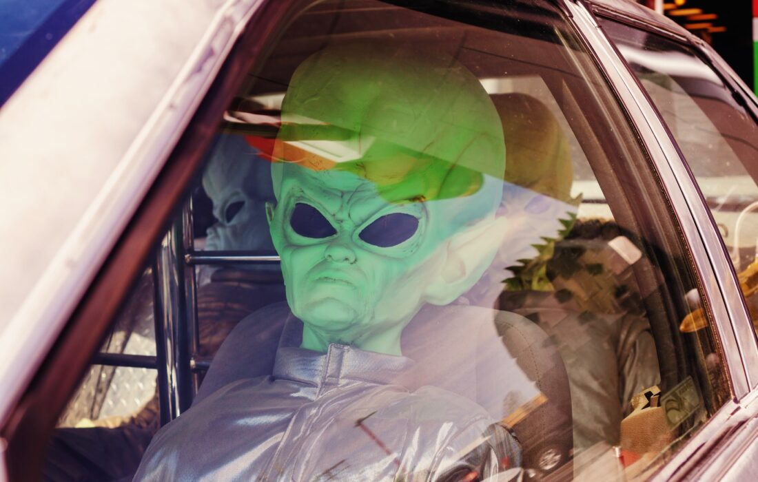 инопланетяне в машине