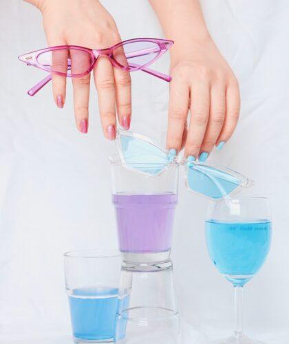 ногти и очки