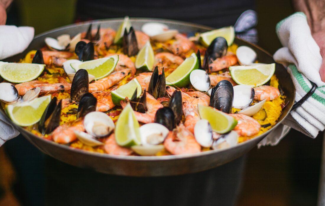 приготовленные морепродукты