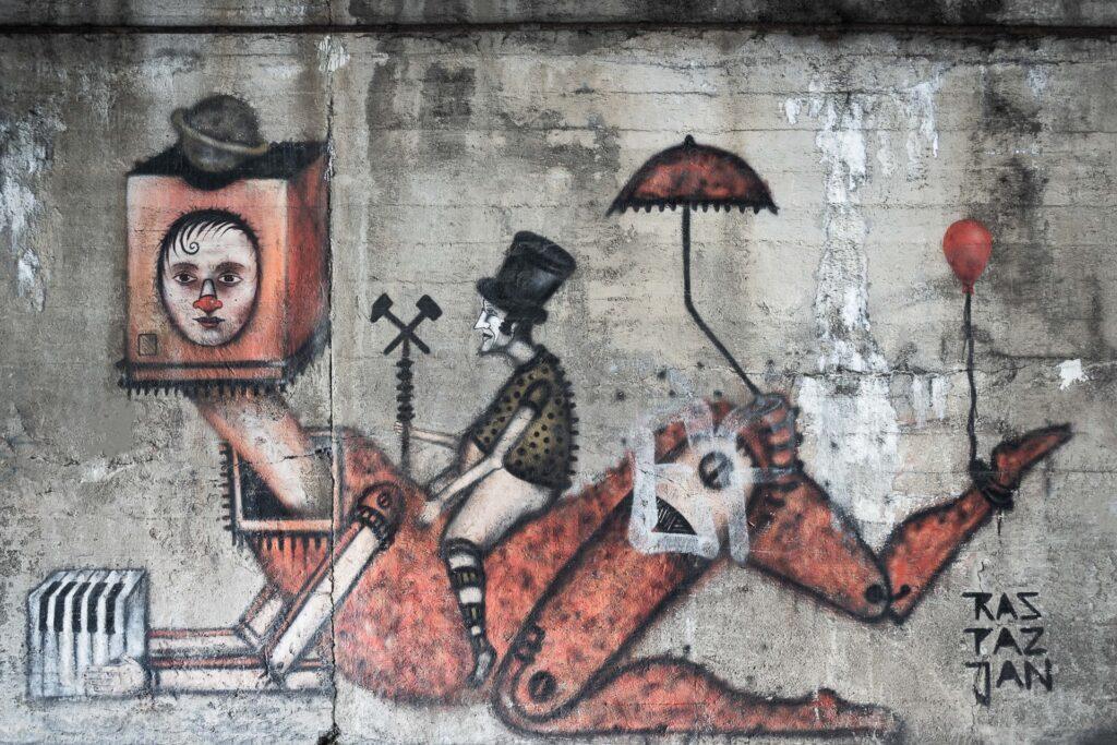 арт на стене