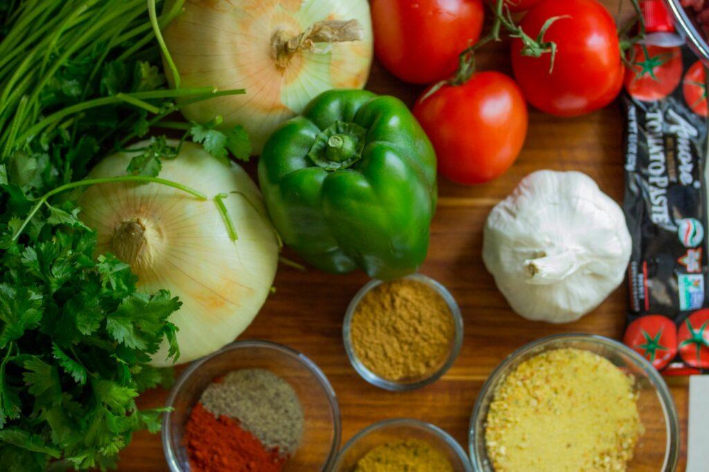 овощи и приправы