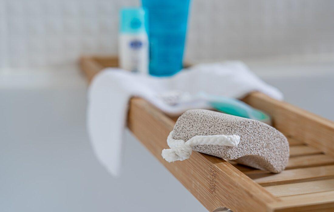 пемза на ванной