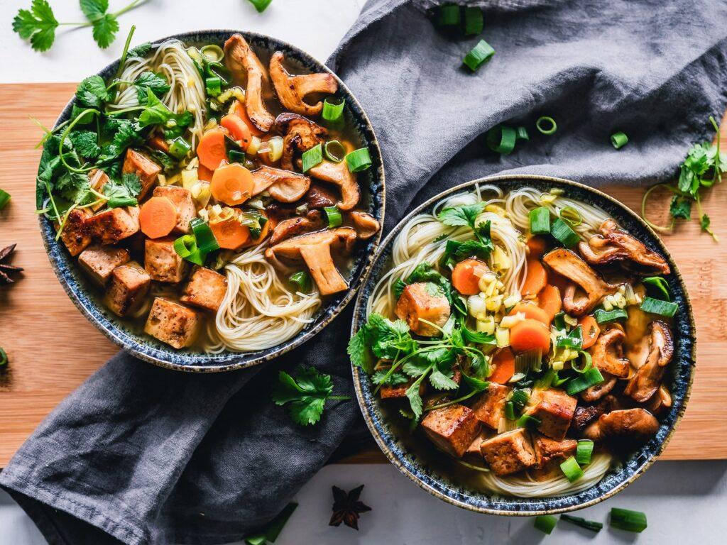 блюда с овощами