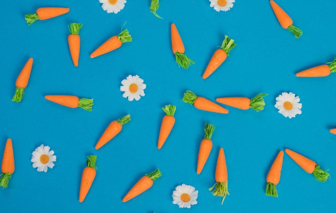 морковки и цветочки