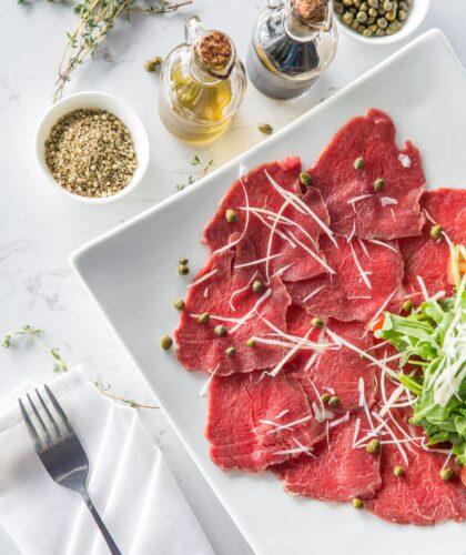 мясо на тарелочке