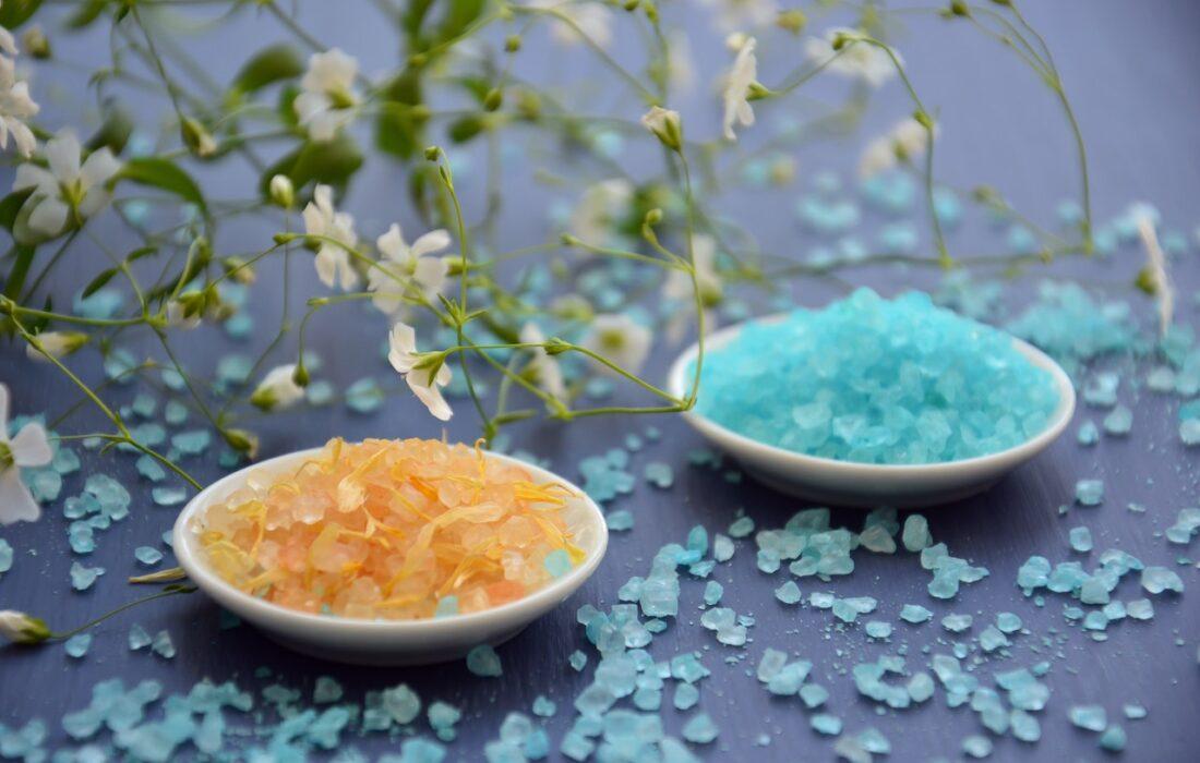 разноцветная морская соль