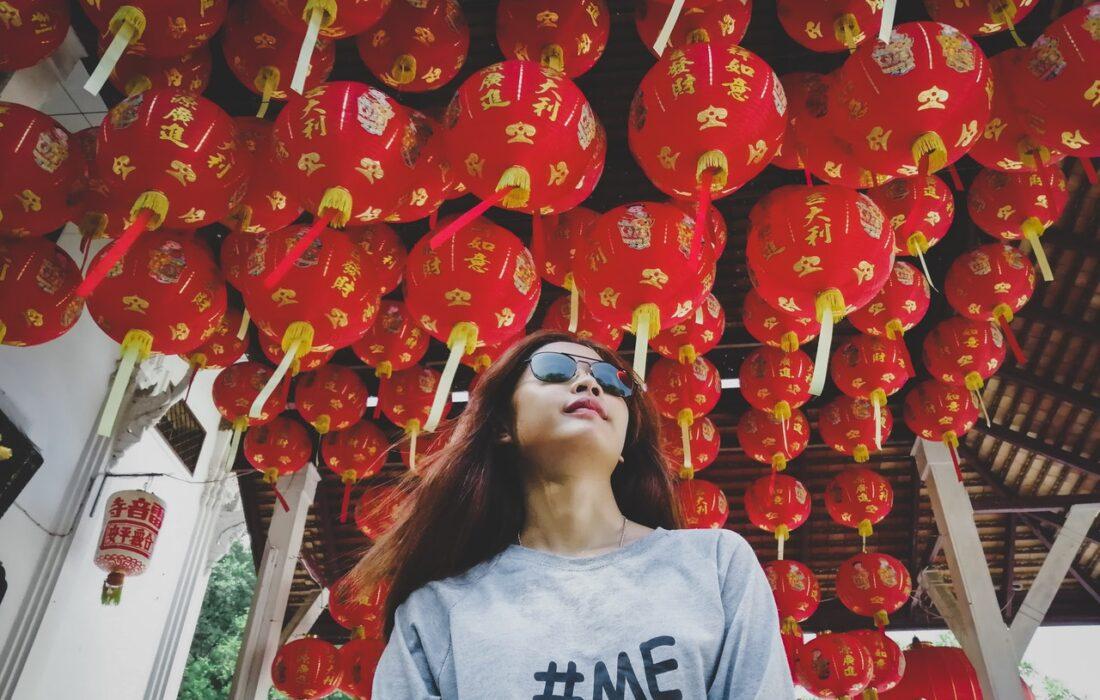 девушка в Китае