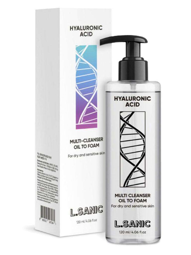 Гидрофильное масло пенка с гиалуроновой кислотой L.Sanik Hyaluronic Acid Oil to Foam Cleanser.