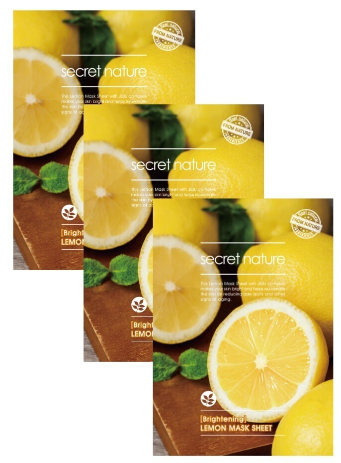 SECRET NATURE Secret Nature Brightening Lemon Mask Sheet