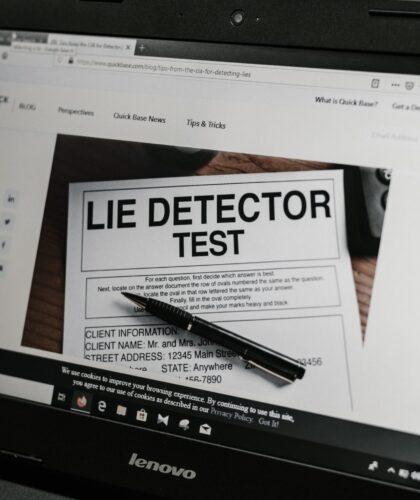 скриншот с детектором лжи