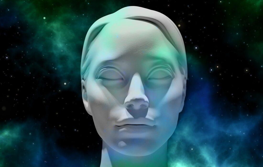 голова девушки 3-д