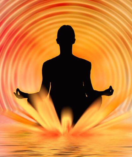 арт медитирующего человека