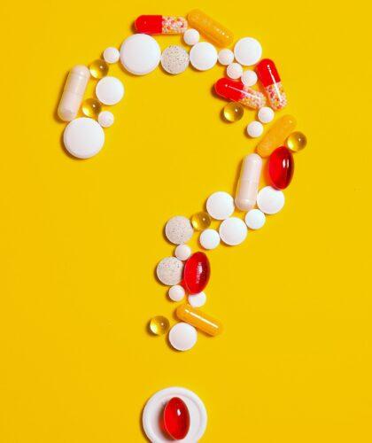 витамины в виде вопросительного знака