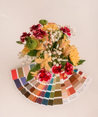 цветы и палетка