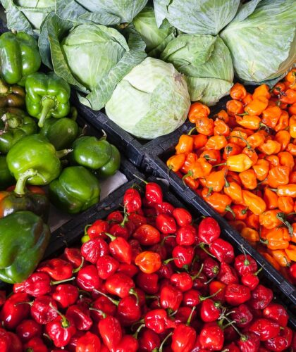 овощи в ящиках