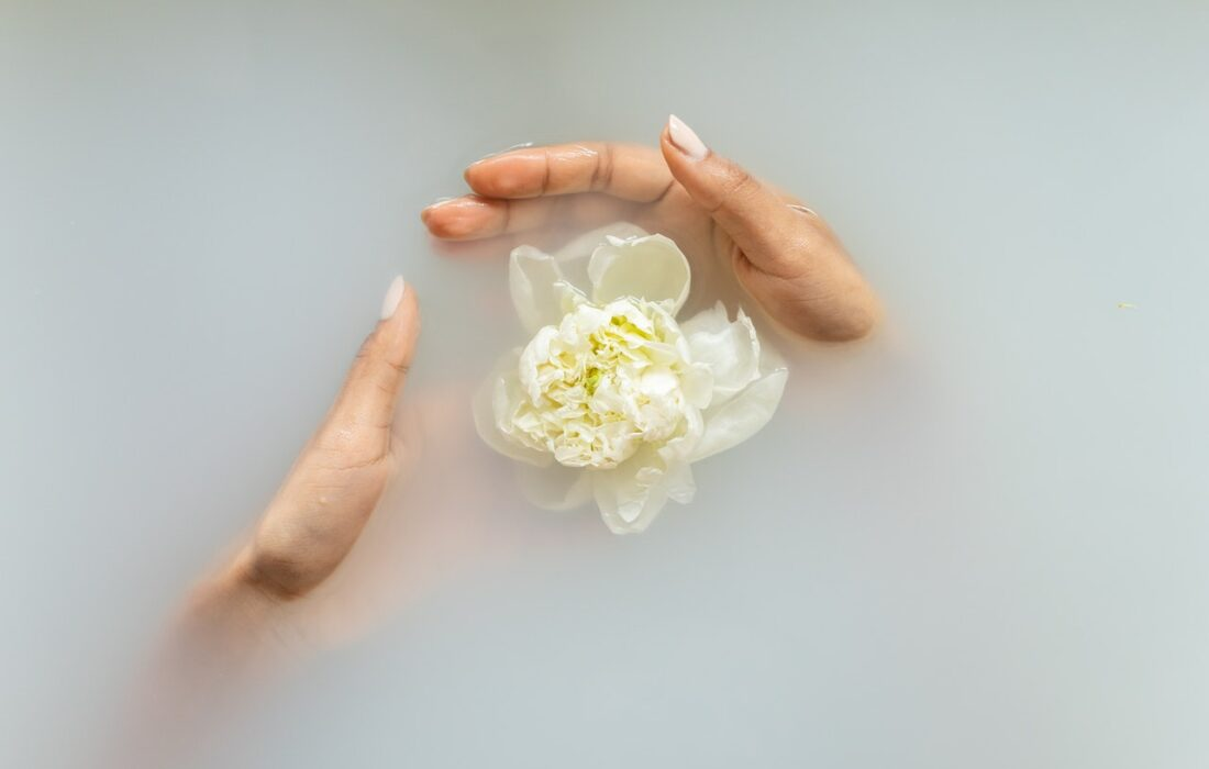 цветок в воде