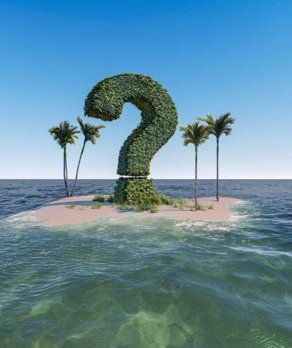 знак вопроса на острове