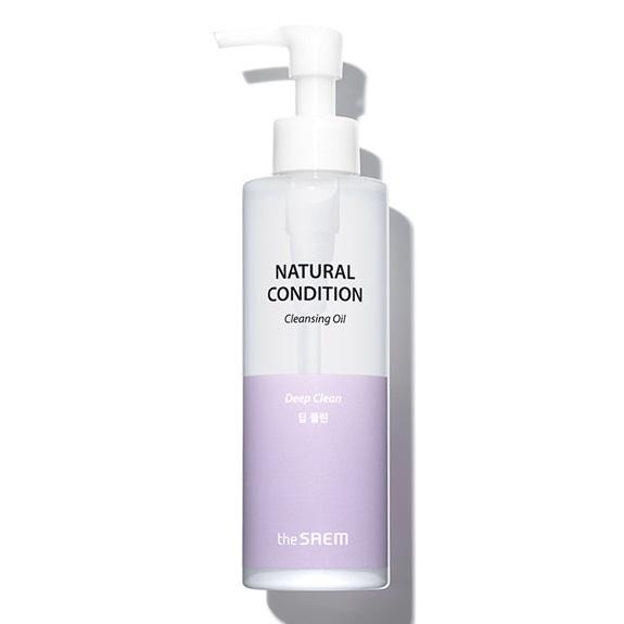 Гидрофильное масло для жирной кожи The Saem Natural Condition Cleansing Oil Deep Clean.