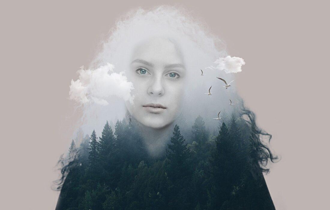 арт девушки и природы