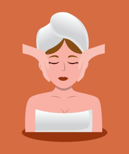 арт девушки на массаже