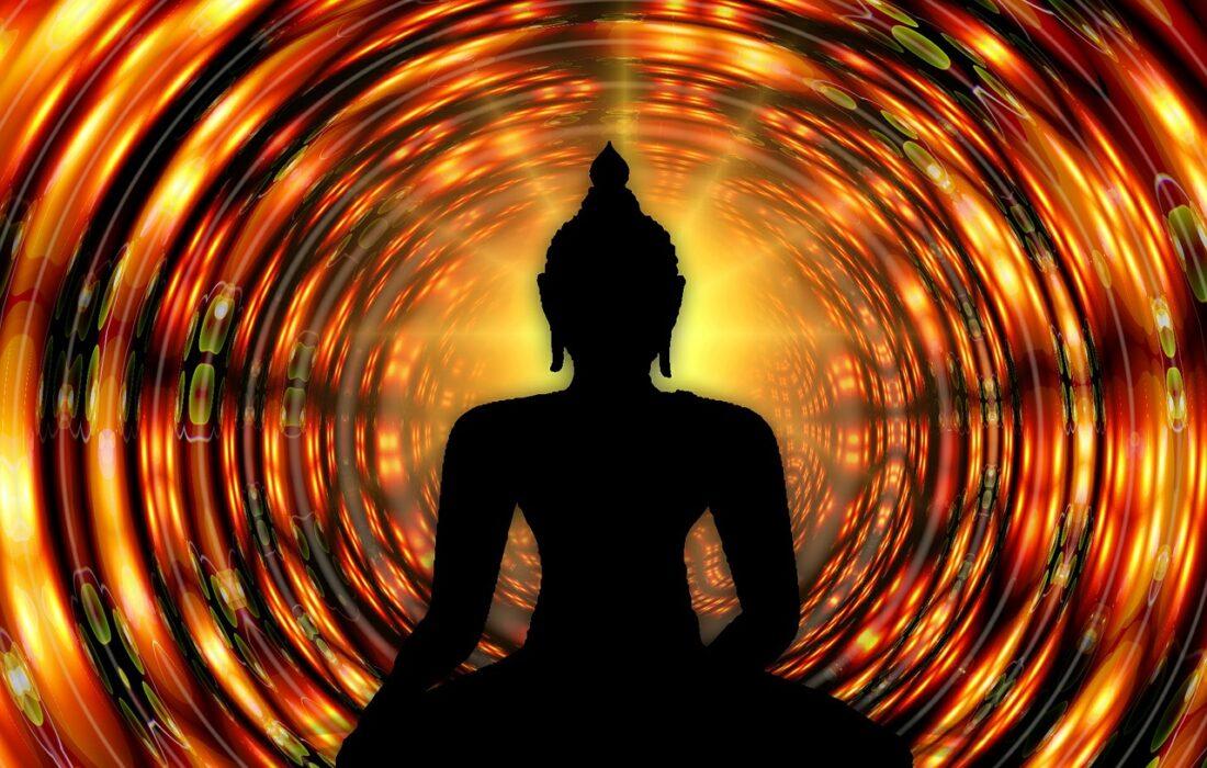 арт медитирующего будды