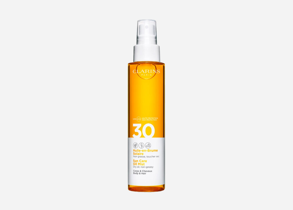 Солнцезащитное масло-спрей Clarins Huile-en-Brume Solaire