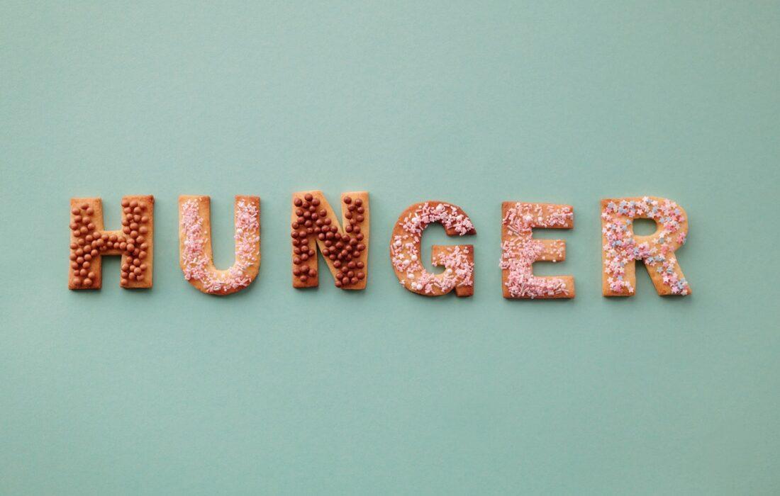 """надпись """"голод"""""""