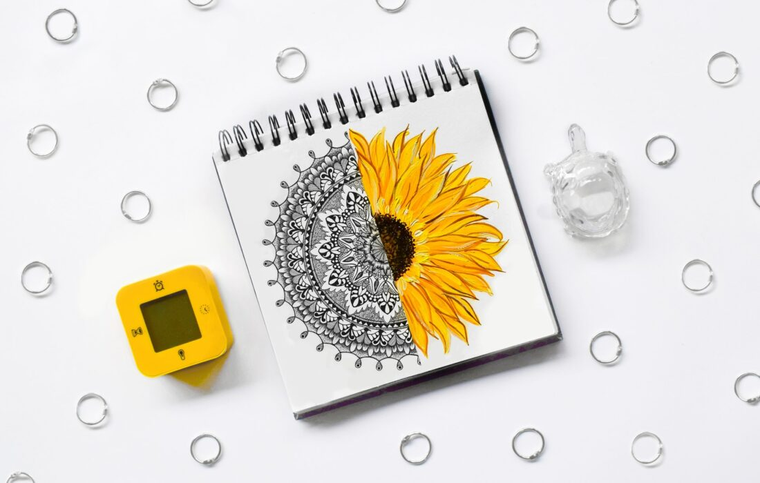 зентангл цветка