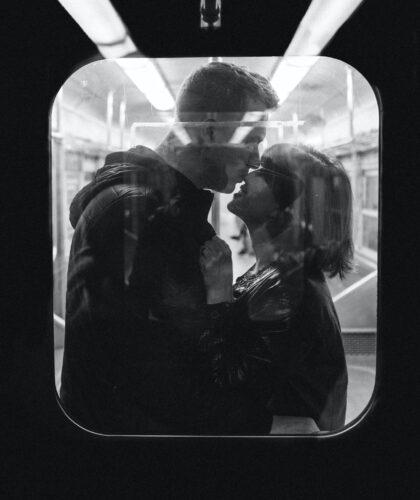 пара в поезде