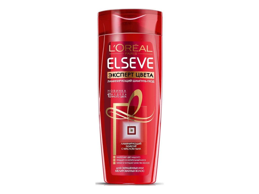 шампунь для волос от L'Oreal ELSEVЕ «Цвет и блеск для окрашенных волос»