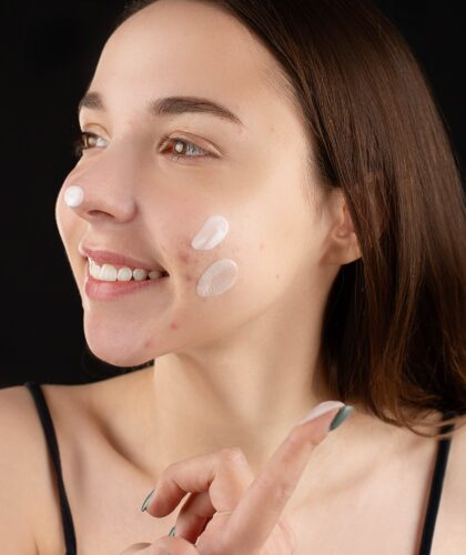 крем на лице