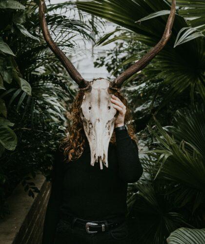животная маска на лице